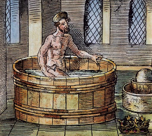 Archimède dans son bain
